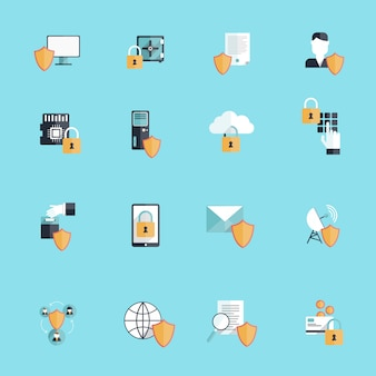 Iconos de seguridad en línea