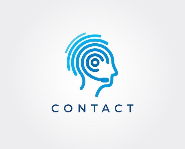 Iconos de servicio al cliente, logotipos, signo, plantilla de símbolo. vector logo de línea directa.