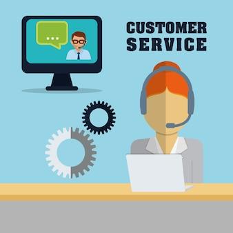 Iconos de servicio de atención al cliente