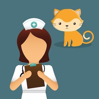 Iconos de servicio de centro de cuidado de mascotas