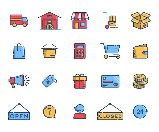 Iconos de sitio web de tienda en línea