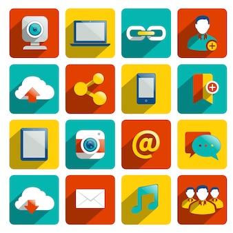 Iconos sobre internet