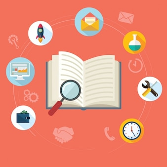 Iconos sobre investigación y desarrollo