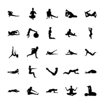 Iconos sólidos aeróbicos