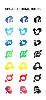 Iconos de splash social media