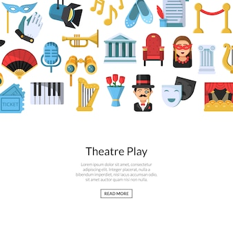 Iconos de teatro plano