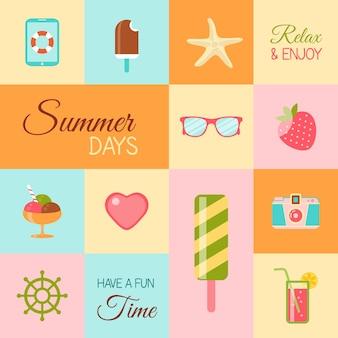 Iconos de tiempo de verano