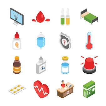 Iconos de tratamiento médico