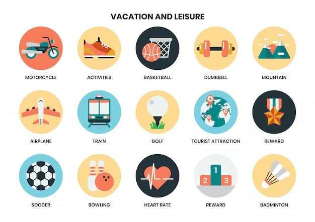 Iconos de vacaciones para negocios