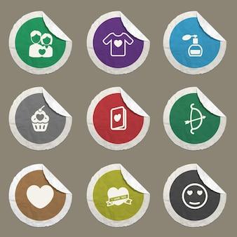 Iconos de vector de día de san valentín para sitios web e interfaz de usuario