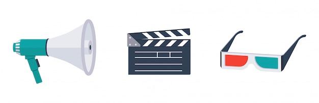 Iconos de vector de película