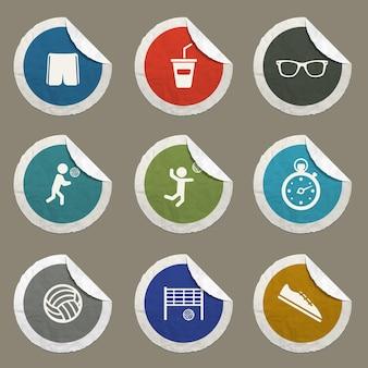 Iconos de vector de voleibol para sitios web e interfaz de usuario