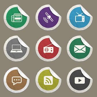 Iconos vectoriales de medios para sitios web e interfaz de usuario