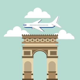 Iconos de viaje de arch of triumph