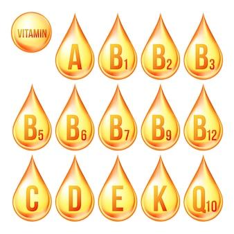 Iconos de vitaminas