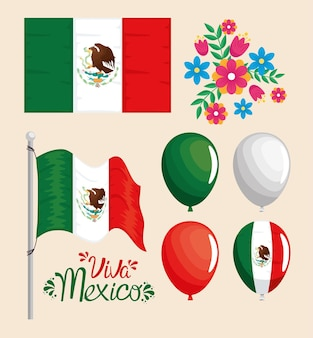 Iconos de viva mexico