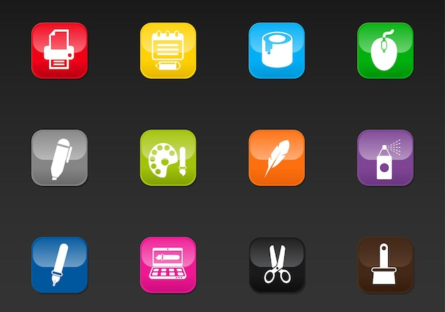 Iconos web profesionales de arte para su diseño