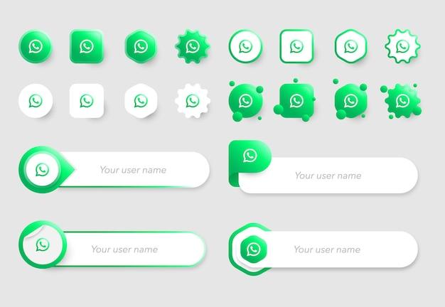 Iconos de whatsapp y colecciones de plantillas de banner