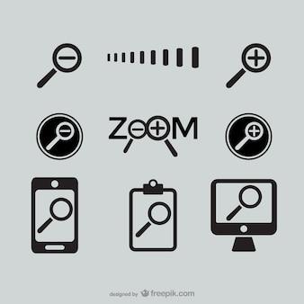 Iconos de zoom