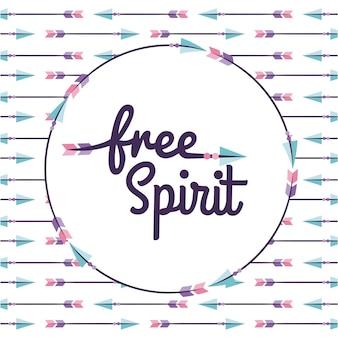 Icons set free spirit cartoon