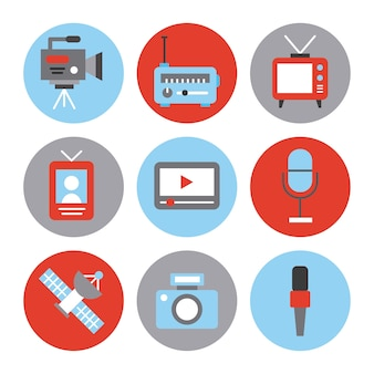 Icons set news