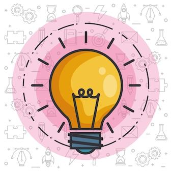 Idea de la bombilla de invención de innovación de inspiración de grandes ideas