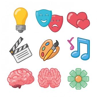 Idea de cerebro creatividad