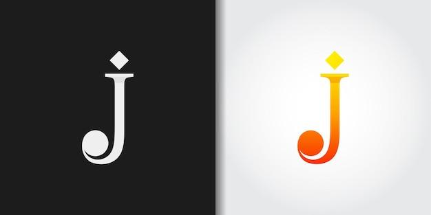 Idea clásica del conjunto del logotipo de la letra inicial j