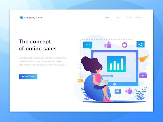 Idea de ilustración de concepto de páginas web