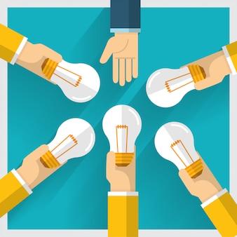 Idea de intercambio de dinero a mano y una forma de proporcionar beneficio.