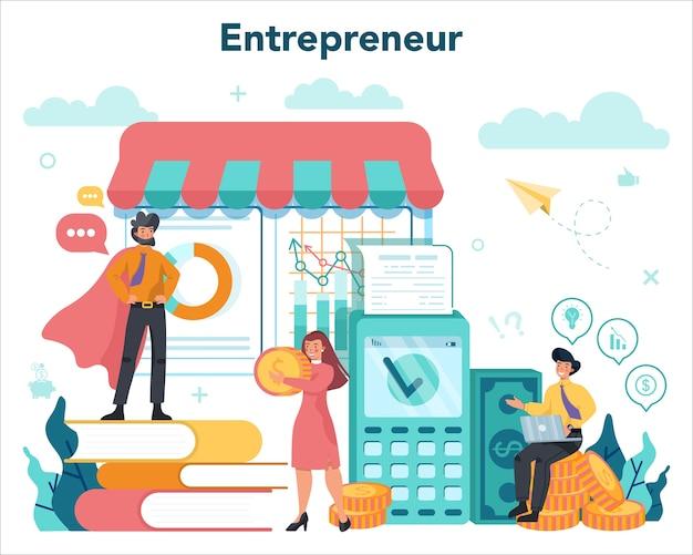 Idea de lucrativo negocio ilustración