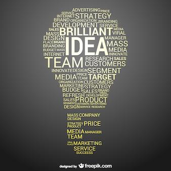 Idea de negocio conceptual vector
