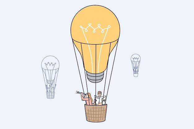 Idea de negocio innovadora y concepto de aprobación.
