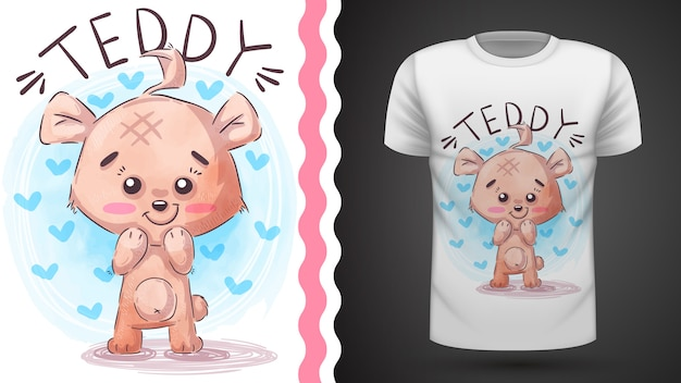Idea de oso de peluche para camiseta estampada
