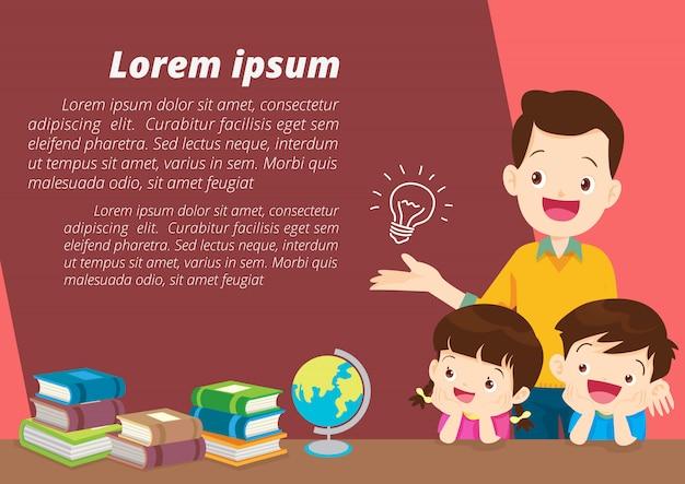 Idea de pensamiento para niños y papá