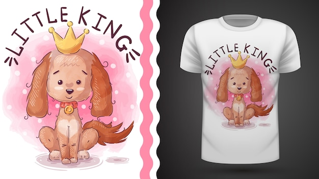 Idea de perro princesa para camiseta estampada