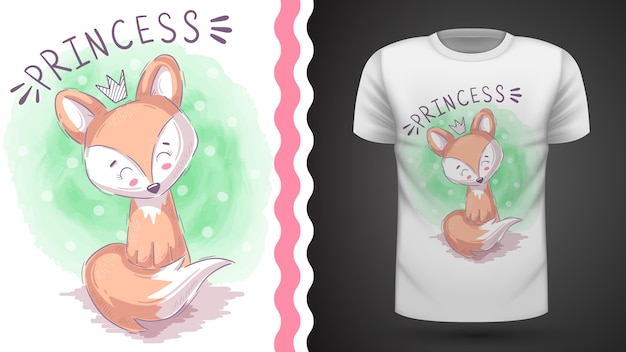 Idea princesa foxy para camiseta estampada