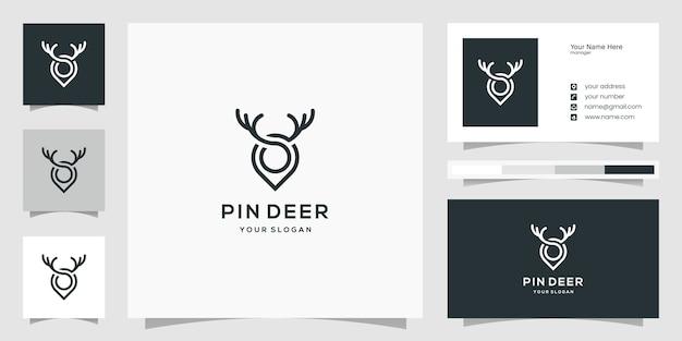 Ideas creativas de logotipos de marcadores de ciervos