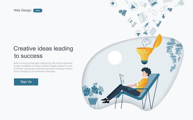 Ideas creativas que conducen al éxito