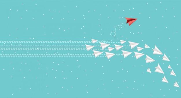 Ideas que son diferentes de otras como ningún otro vector de avión