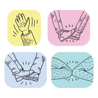 Ideas de saludos sin contacto
