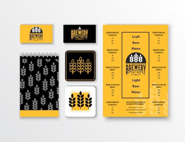 Identidad corporativa. diseño de plantillas de papelería clásico. documentación para los negocios.