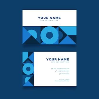 Identidad creativa abstracta tarjetas de visita