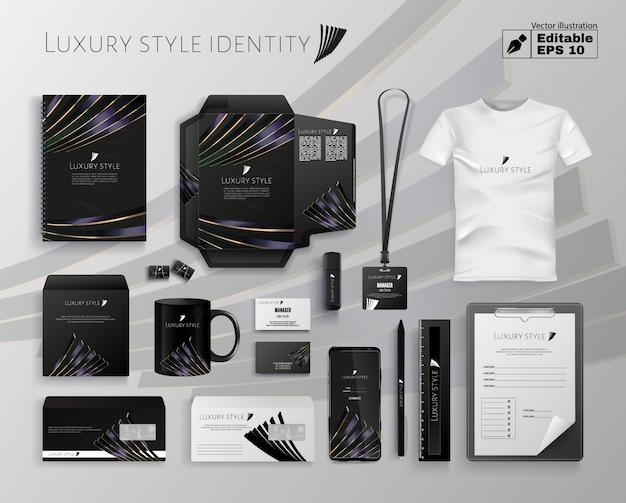 Identidad de empresa de estilo de lujo