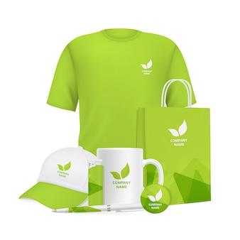 Identidad empresarial. diseño de marca recuerdos corporativos artículos promocionales ropa copa tapa bolígrafo encendedor
