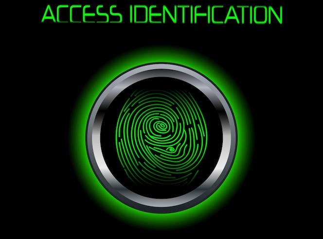 Identificación de acceso de escaneo de huellas dactilares
