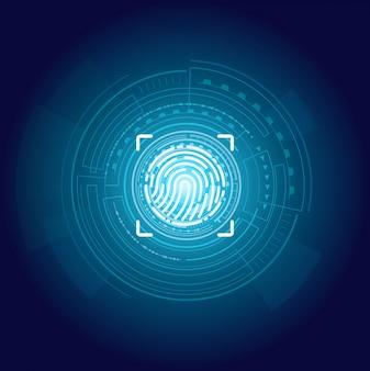 Identificación huellas digitales cartel texto