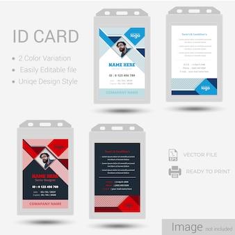 Identificación o diseño de la tarjeta de identificación.