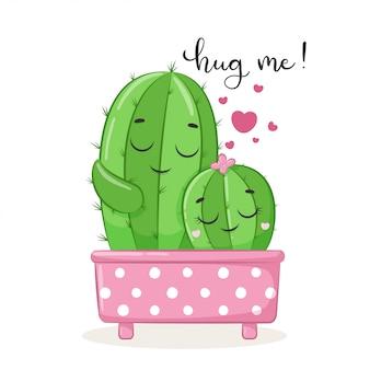 Iilustration lindo cactus.