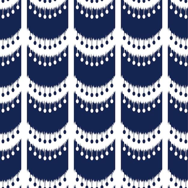 Ikat diseño de patrones sin fisuras para la tela